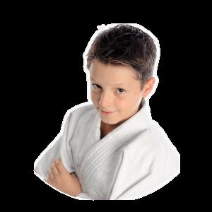 Cropped Photo of Karate Kid Smiling at Camera