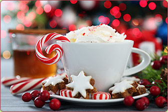 Cup of Hot Chocolate w/ Candy Cane