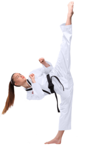 ATA Instructor Kicking Straight Up